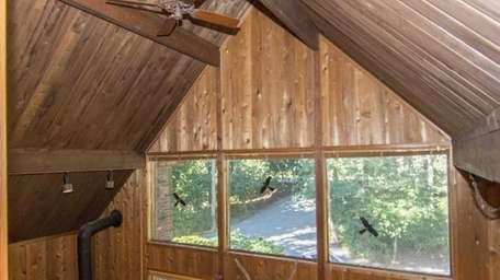 This is a cedar-lined great room in a