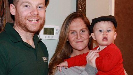 Eamonn and Kara Guilfoyle with their son, Fintan,