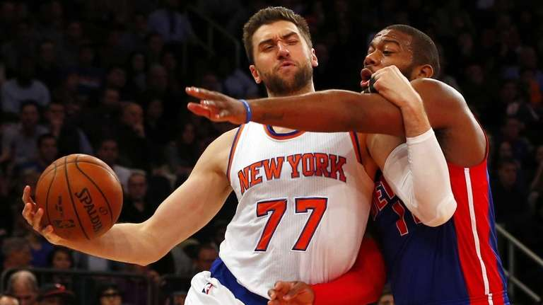 Andrea Bargnani of the New York Knicks draws