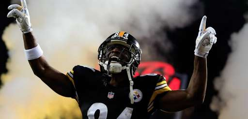 Antonio Brown of the Pittsburgh Steelers is introduced