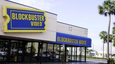 A Blockbuster video rental store in Miami, Fla.