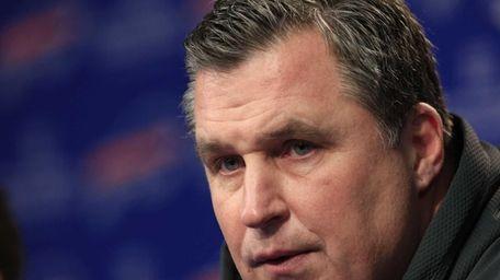 Buffalo Bills head coach Doug Marrone speaks during