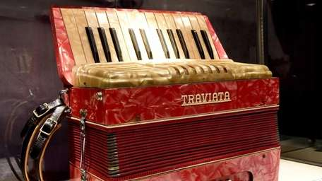 The accordion donated by Alex Rosner to Holocaust