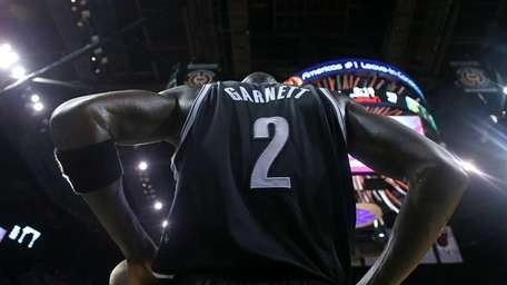 Kevin Garnett #2 of the Brooklyn Nets looks
