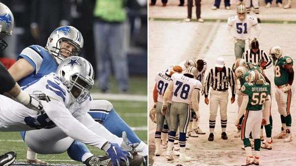 In this composite image, the Dallas Cowboys' DeMarcus
