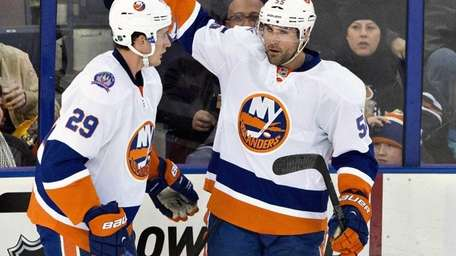 The New York Islanders' Brock Nelson (29) and