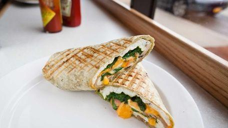 The Baywatch Babe breakfast burrito, a whole-wheat tortilla