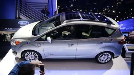 The Ford C-MAX Solar Energi Concept car is