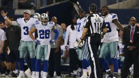 Dez Bryant #88 of the Dallas Cowboys argues