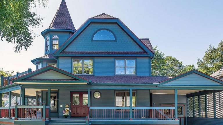 The authentic-looking Victorian was built in 1987 and