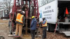 Preparation starts as additional groundwater monitoring wells are
