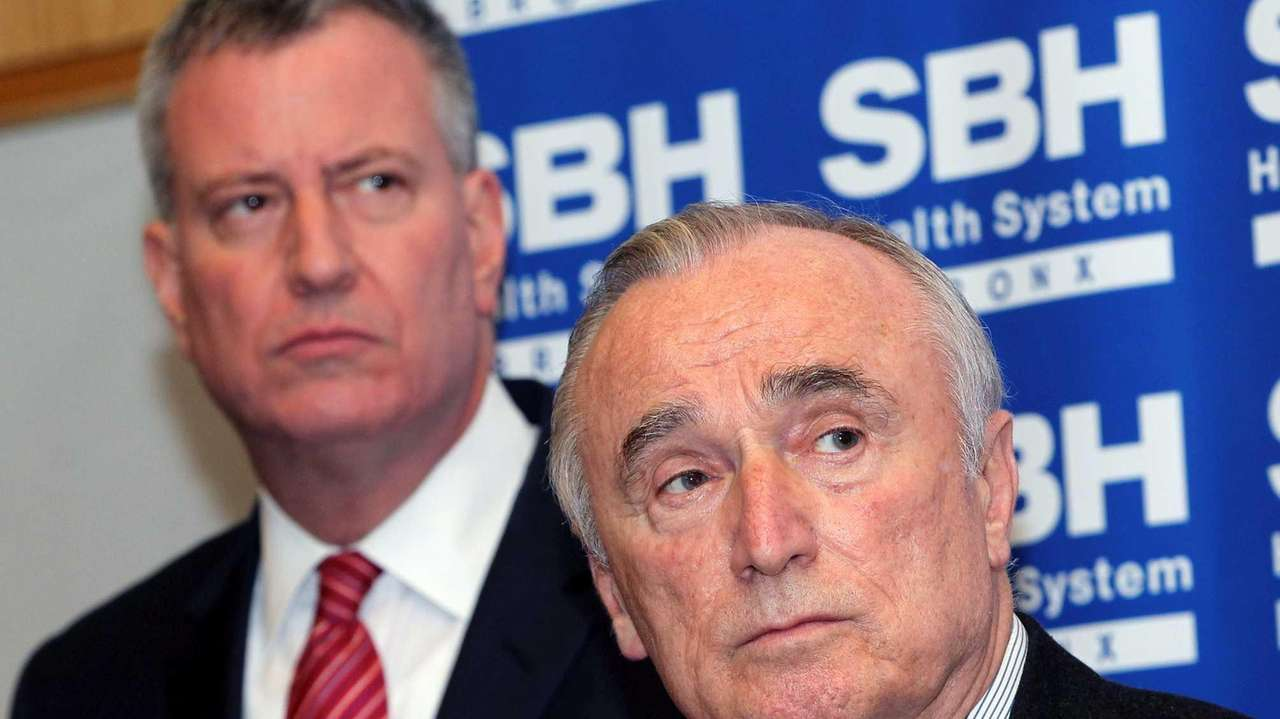 NYPD Commissioner William Bratton, right, seen here with