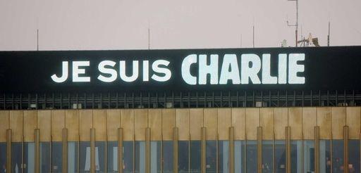 """The lettering """"Je suis Charlie"""" (I am Charlie)"""