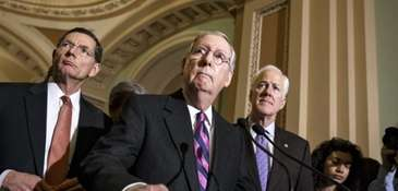 Senate Majority Leader Mitch McConnell of Kentucky with