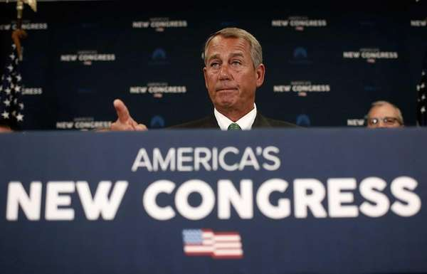Speaker of the House John Boehner (R-Ohio) answers
