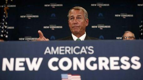 Speaker of the House John Boehner (R-Ohio) answers
