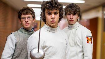 From left, senior Michael Skolnich, senior Marc Dalrymple