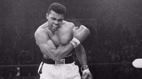 Heavyweight champion Muhammad Ali, then known as Cassius