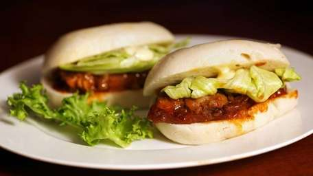 Pork buns are packed with cuts of tender,