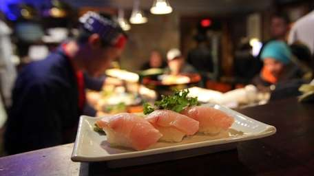 Yellowtail sushi is a standout at Kurofune in