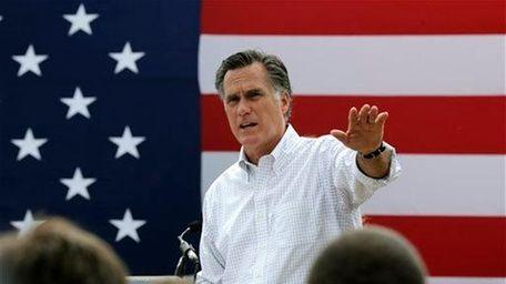 Former Republican presidential nominee Mitt Romney, seen in