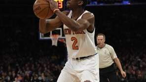 New York Knicks guard Langston Galloway shoots against