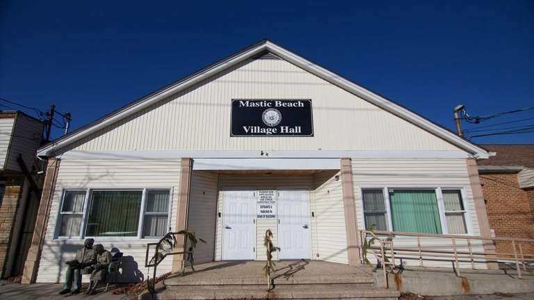 Mastic Beach Village Hall is shown in a