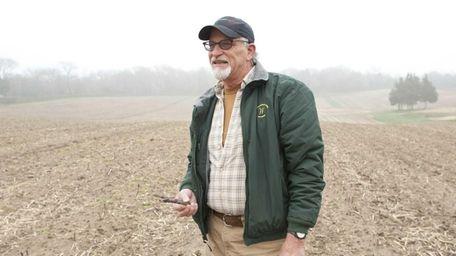 Lyle Wells, an 11th generation farmer, is seen