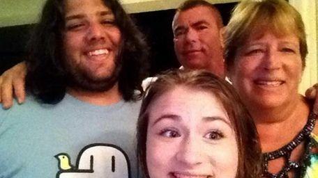 From left, Ryan O'Keefe, 20, Kelly O'Keefe, 18