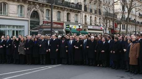 World leaders and dignitaries, including (L-R) Spanish Prime
