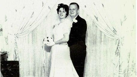 Michele and John Pilkington on their wedding day,
