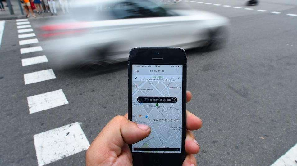 The Uber Technologies Inc. car service application is