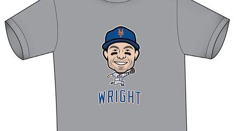 David Wright Mets T-shirt design.