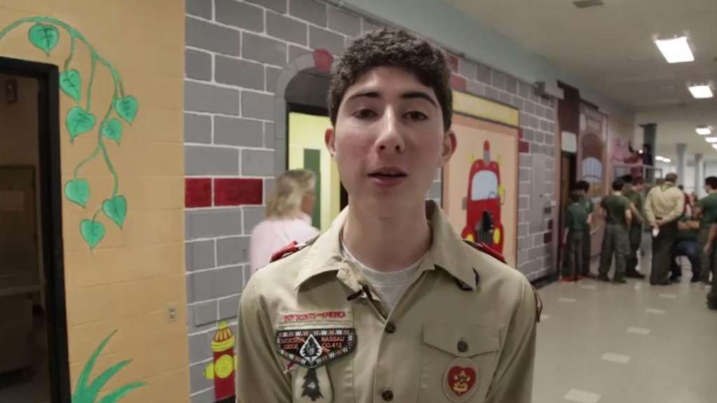 James Giella, of Boy Scout Troop 381 out