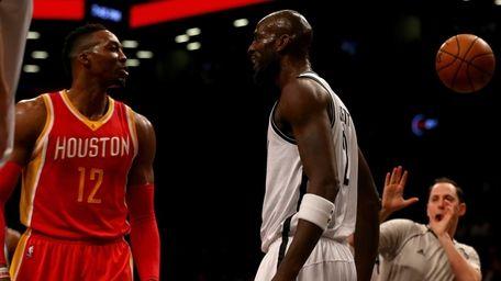 Dwight Howardof the Houston Rockets and Kevin Garnett