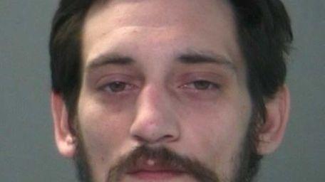 Michael Novak, 25, of Lindenhurst, was arrested on