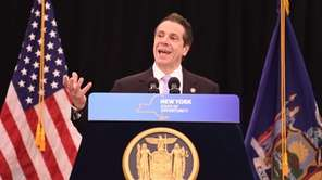 Gov. Andrew Cuomo, during a press conference Wednesday