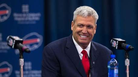 Rex Ryan addresses the media at an NFL
