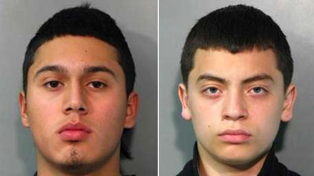 Tomas Rios, 16, of the Bronx, left, was