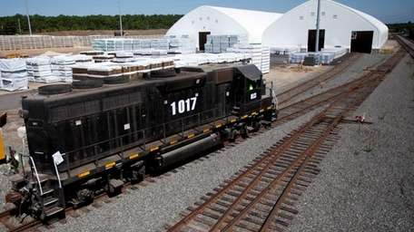 A train at the Brookhaven Rail Terminal on