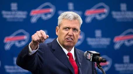 Rex Ryan speaks at a press conference announcing