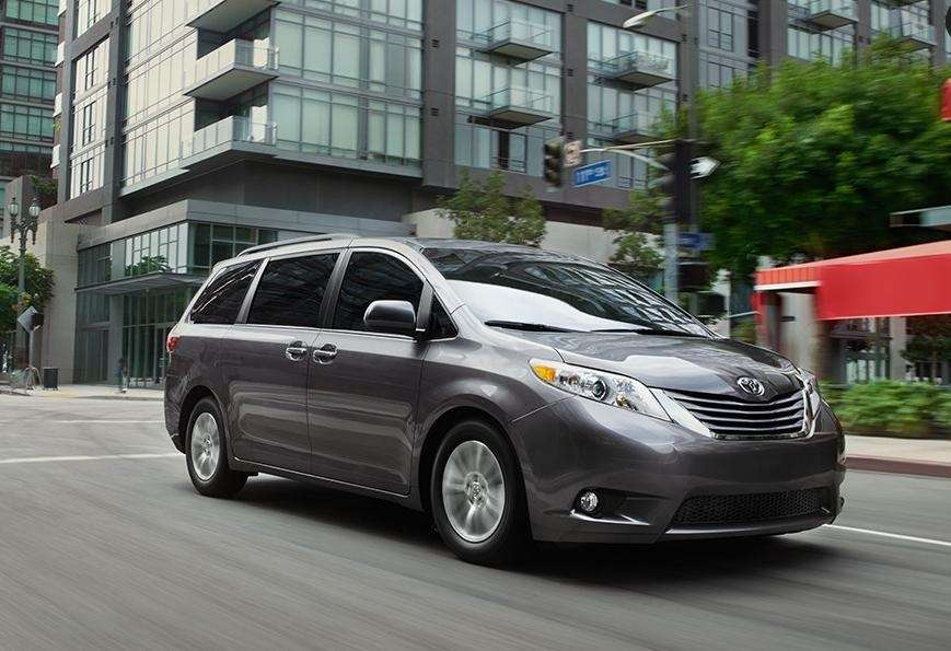The 2015 Toyota Sienna picked up the best