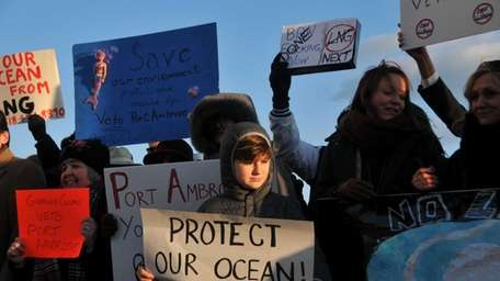Ryder Moore-Lukaszewski, 9, of Long Beach, joined other