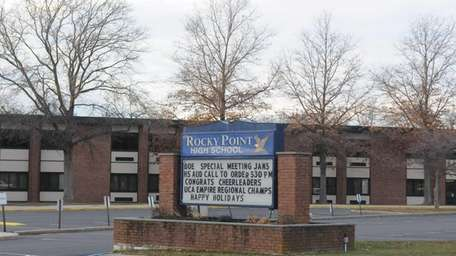 Rocky Point High School is shown in a