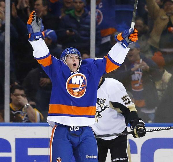 Ryan Strome of the New York Islanders celebrates