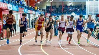 The start of the boys 1000 meter race