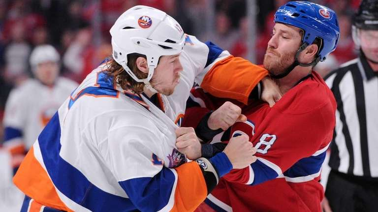 Brandon Prust #8 of the Montreal Canadiens and
