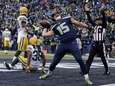 The Seattle Seahawks' Jermaine Kearse celebrates after catching
