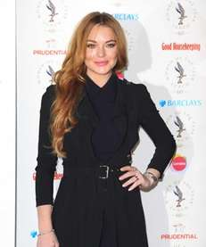 Lindsay Lohan attends the Women Of The Year