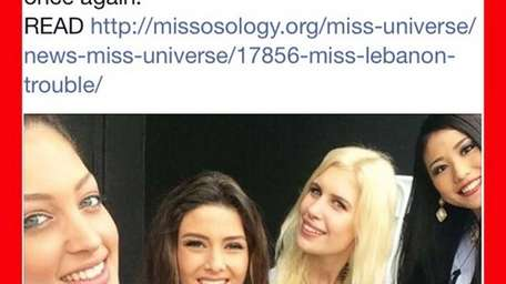 Miss Israel Doron Matalon, Miss Lebanon Saly Greige,